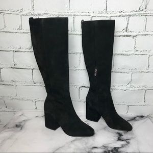 Sam Edelman Thora Knee High Black Suede Boots